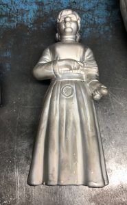 Figure mold made of aluminum for subsequent rotomolding